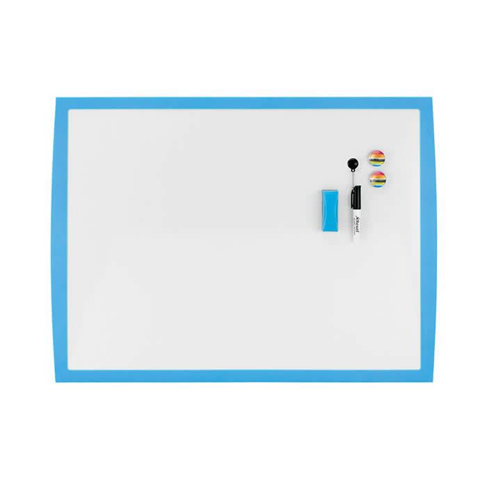 Pizarra blanca REXEL Joy magnética marco azul 430 x 585 mm (2104176)