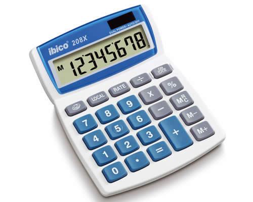 Calculadora IBICO 208X 8 dígitos (IB410062)