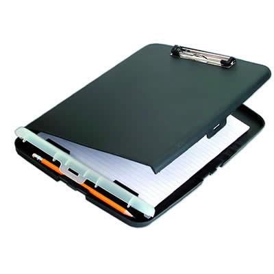Caja OFFICE BOX portadocumentos con pinza negro (9568)