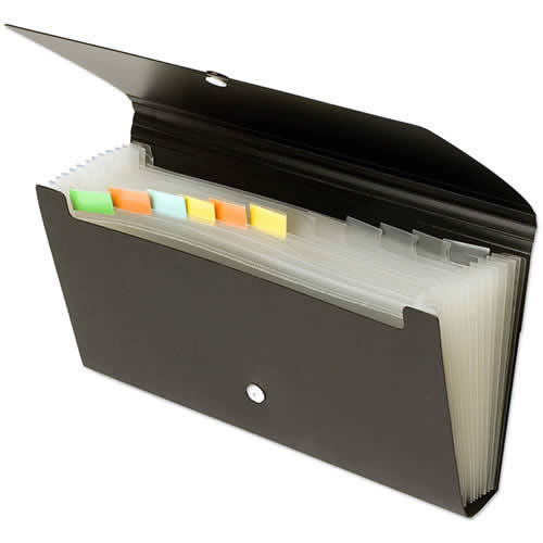 Clasificador chequera OFFICE BOX 12 divisiones. Colores surtidos (42668)