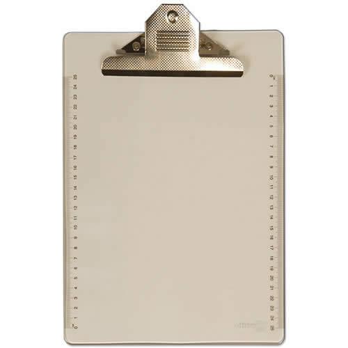 Soporte OFFICE BOX transparente con pinza jumbo cristal (9361)