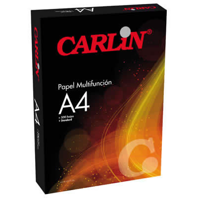 PAPEL CARLIN A4 500 HOJAS STANDARD ECONOMY MACULATURA PAPEL (501101)