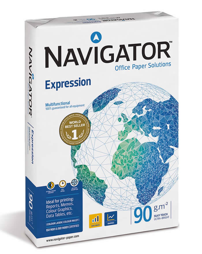 PAPEL NAVIGATOR A4 90 GRS. 500 HOJAS (108808)
