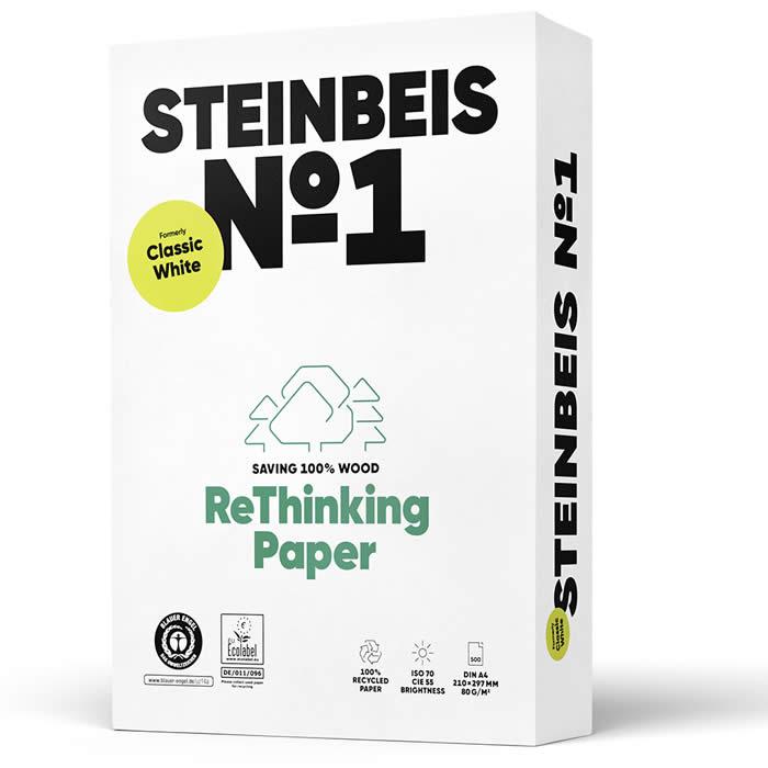PAPEL STEINBEIS RECICLADO CLASSIC WHITE A4 80 GRS. (141688)