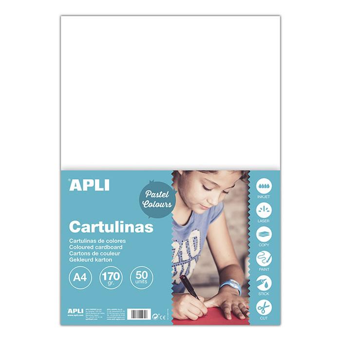 CARTULINA APLI 180 GRS. A4 50 HOJAS BLANCO (14229)