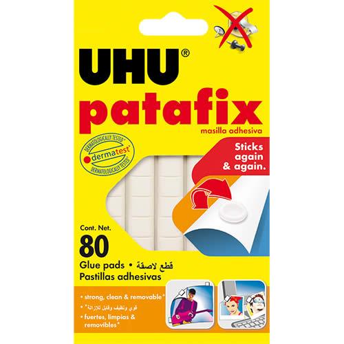 MASILLA ADHESIVA UHU PATAFIX BLANCO 80 PCS. (38021)