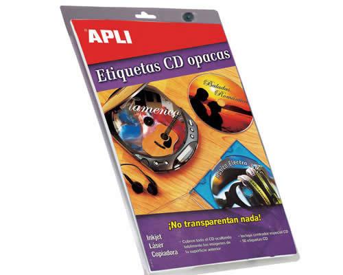 ETIQUETAS APLI MULTIMEDIA CD/DVD MEGA 117 DTRO. ADHESIVO REMOVIBLE (10600)