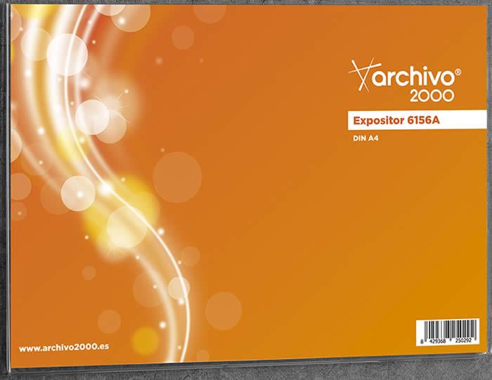 Expositor de ARCHIVO 2000 multiusos mural con adhesivo. Tamaño A4 horizontal (6156A CS TP)