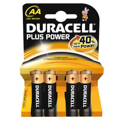 PILAS DURACELL PLUS POWER AA 4 PILAS LR6 (940279)