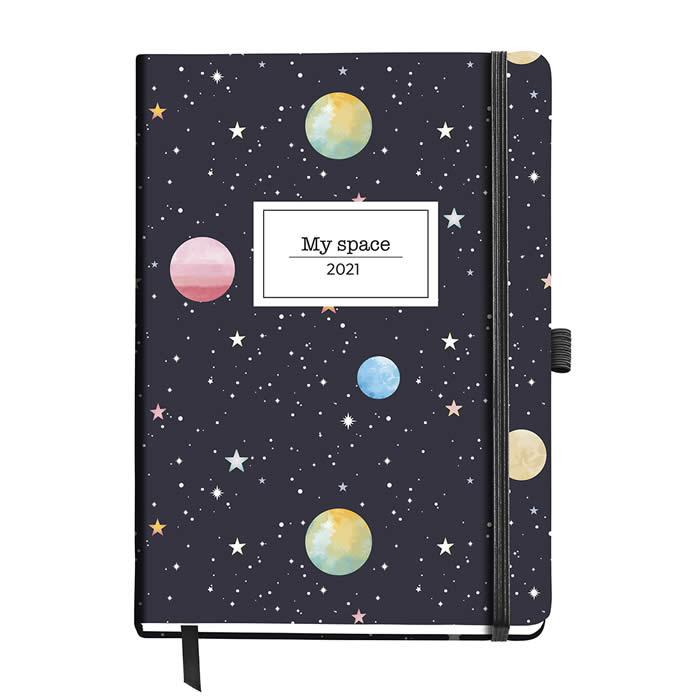 Agenda 122X168 Mm. D/P Estampada Planets (33146)