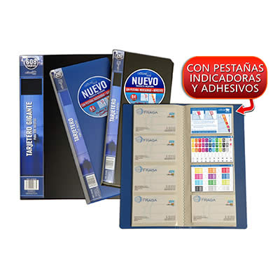 Tarjetero OFFICE BOX  120 x 275 mm. 160 tarjetas