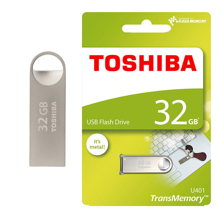 PEN DRIVE 2.0 TOSHIBA 32GB PLATA TIPO LLAVERO EXTRA LIGERO (20144)