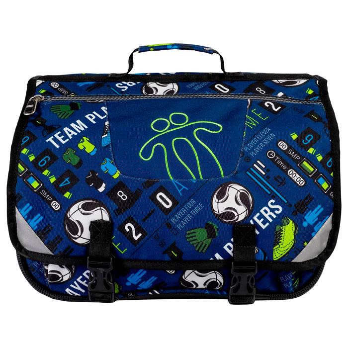 Mochila escolar color azul soccer - Tijeras